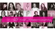 Banner del sito del progetto LEI Center for Women's Leadership di Ca' Foscari Venezia